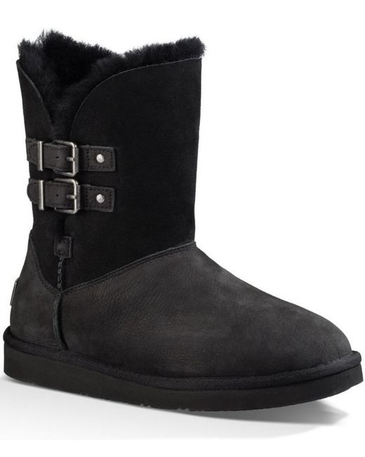 Ugg | Black Mini Bailey Bow Suede Boots | Lyst