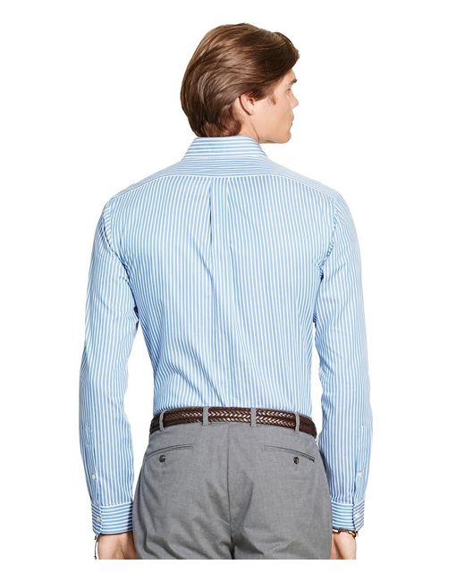 ... Polo Ralph Lauren | Blue Big \u0026amp; Tall Striped Twill Sportshirt for Men ...