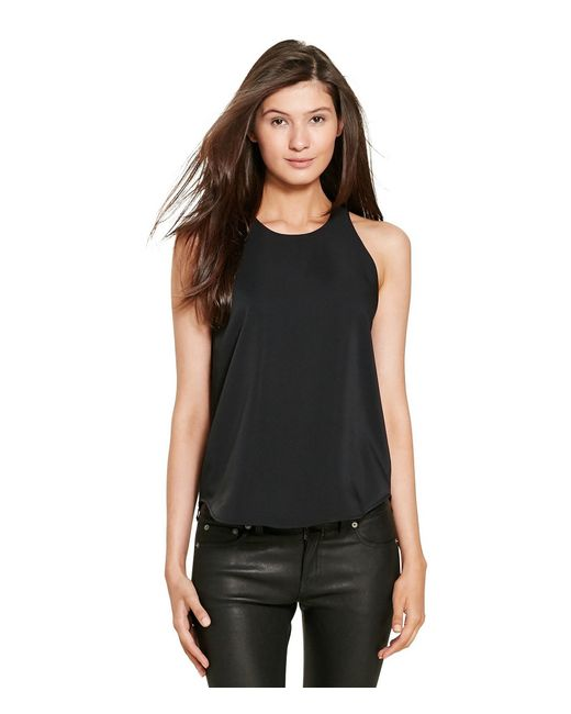Polo Ralph Lauren | Black Sleeveless Top | Lyst