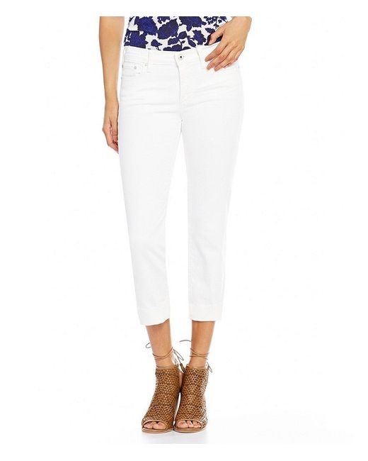 Lucky Brand | White Sweet Crop 5-pocket Jeans | Lyst