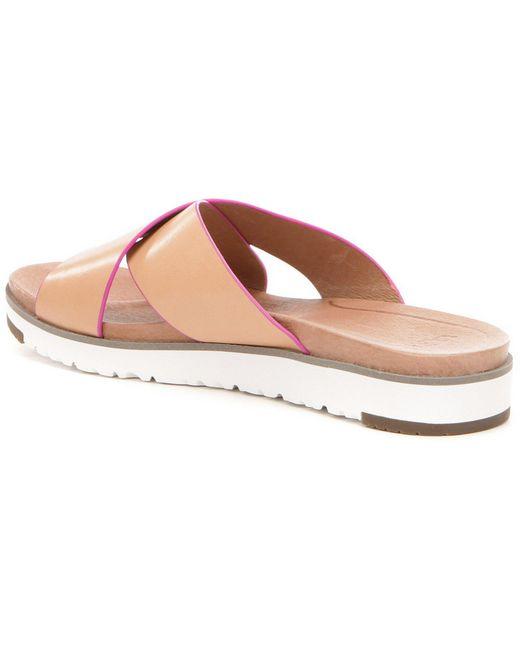 Ugg   Natural ® Kari Slide on Sandals   Lyst