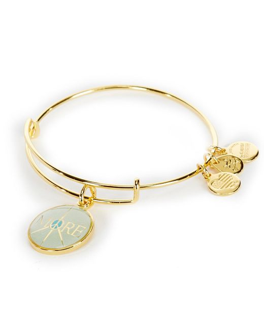 ALEX AND ANI | Metallic More Peace Charm Bangle Bracelet | Lyst