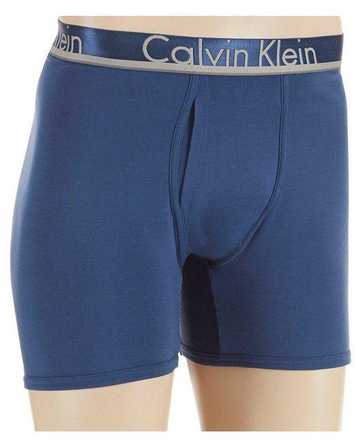 Calvin Klein   Blue Comfort Microfiber Boxer Briefs 3-pack for Men   Lyst