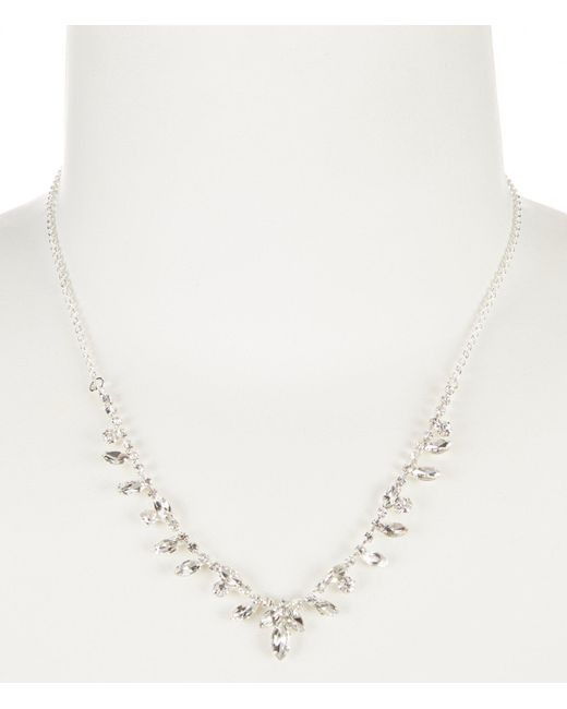Cezanne - Metallic Points Rhinestone Frontal Necklace - Lyst