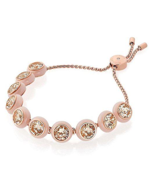 Michael Kors | Metallic Acetate & Cubic Zirconia Slider Bracelet | Lyst