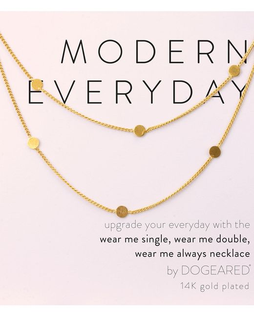 Dogeared - Metallic Modern Everyday Multi Circle Long Layering Necklace - Lyst