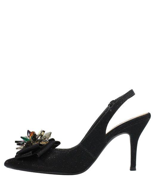 7394326d2c9 ... J. Reneé - Black Denyell Glitter Flower Ornament Sling Pumps - Lyst ...