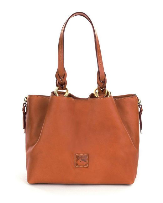 Dooney & Bourke - Orange Florentine Collection Barlow Tote - Lyst