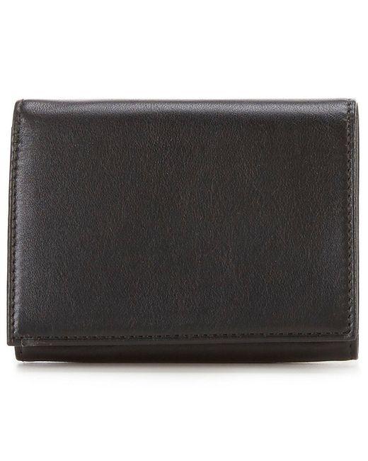 Bosca - Black Nappa Vitello Single I.d. Trifold Wallet for Men - Lyst