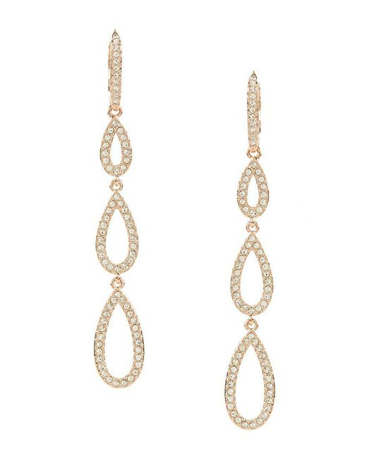 Nadri - Metallic Pav Drop Statement Earrings - Lyst