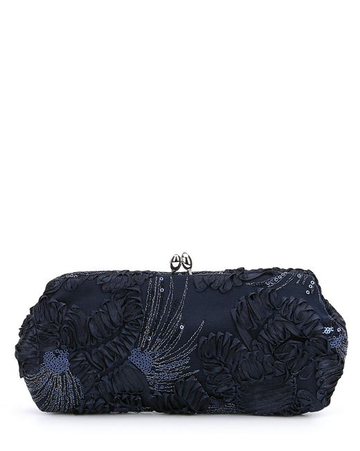 Adrianna Papell - Blue Sia Sequined Clutch - Lyst
