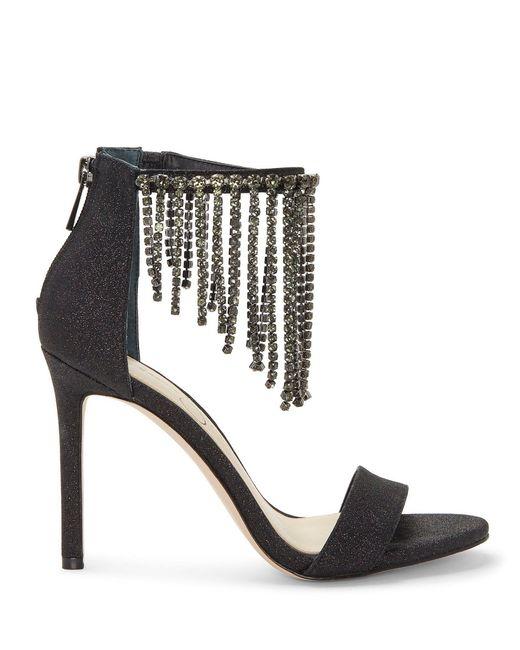 55c5d3b7ca3e ... Jessica Simpson - Black Jiena Rhinestone Fringe Dress Sandals - Lyst ...