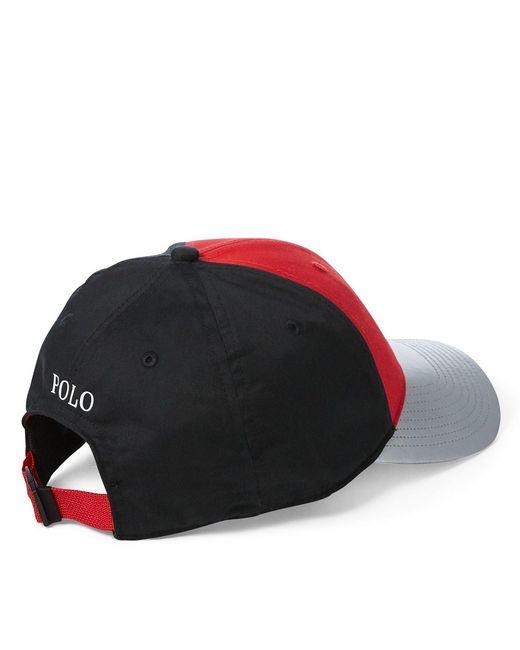 4ba4a5778de ... Polo Ralph Lauren - Red P-wing Color Block Baseball Cap for Men - Lyst