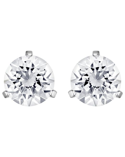 Swarovski - Metallic Crystal Solitaire Earrings - Lyst