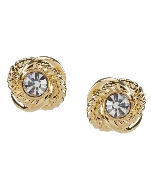 Kate Spade - Metallic Infinity & Beyond Gold Plated Knot Stud Earrings - Lyst