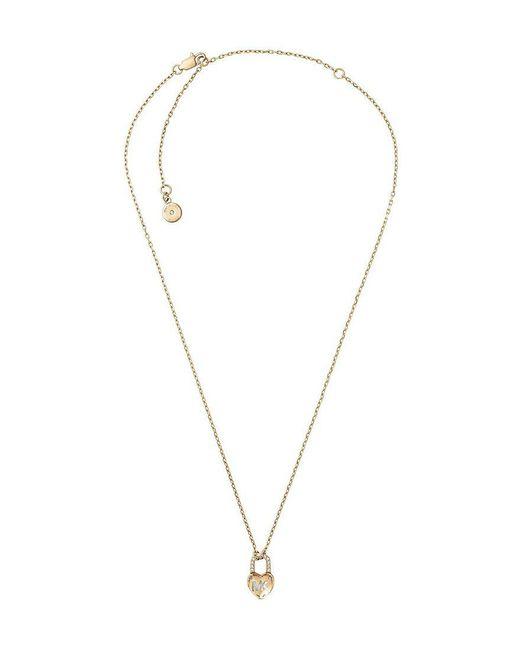 Michael Kors - Metallic Logo Love Pendant Necklace - Lyst