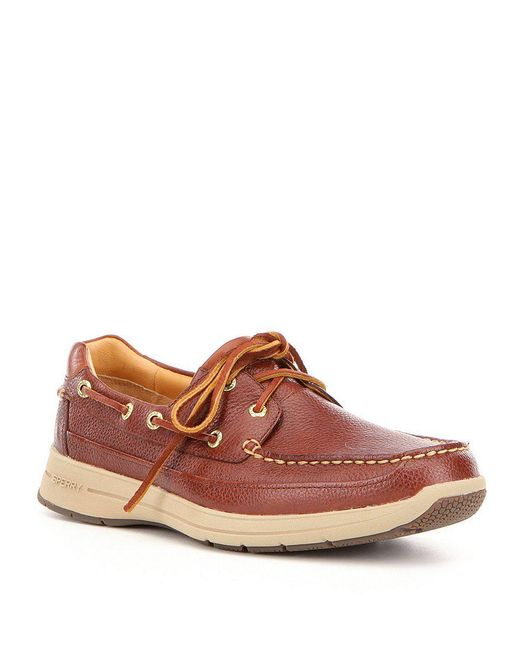 Sperry Top-Sider - Brown Men ́s Gold Cup Leather Hand-sewn Slip On Ultralite Boat Shoe for Men - Lyst