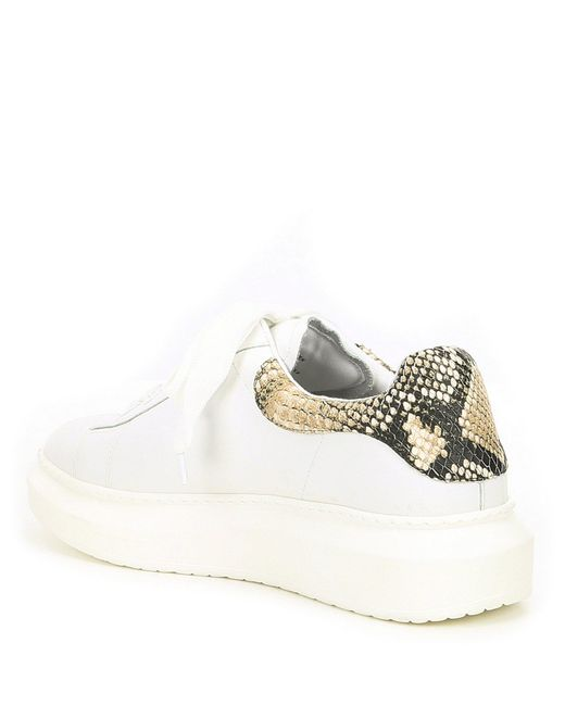 25435f5505758 ... Steve Madden - Multicolor Steven By Glazed Leather Colorblock Chunky  Sneakers - Lyst ...