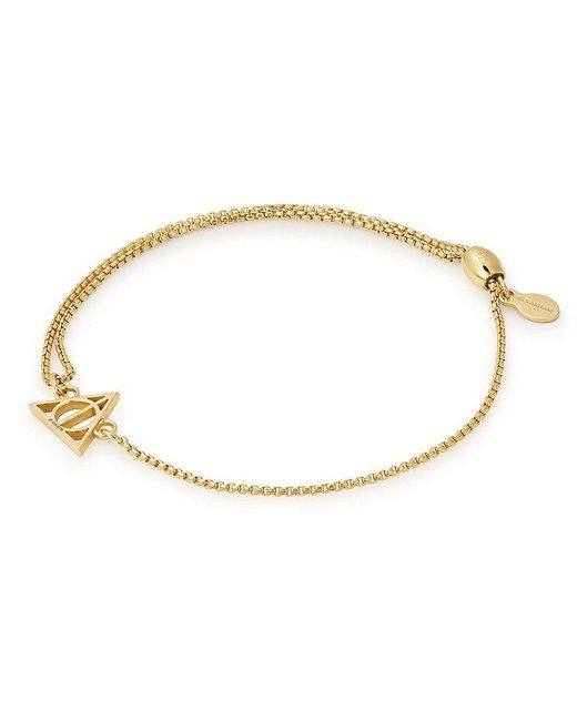 ALEX AND ANI | Metallic Harry Pottertm Deathly Hallowstm 14k Gold Fine Pull Chain Bracelet | Lyst