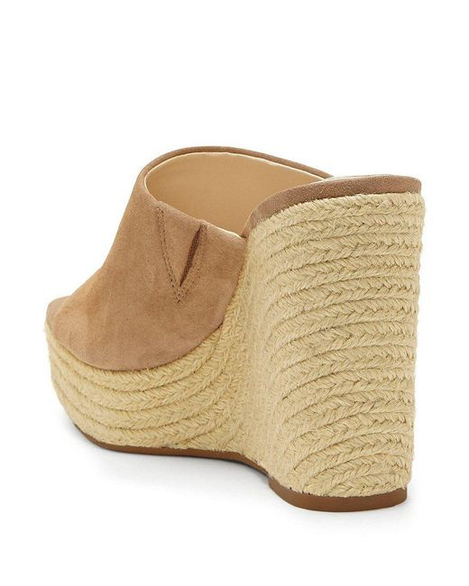 Sirella Suede Leather Espadrille Wedges