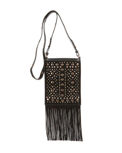 Lucky Brand | Black Colima Studded Fringed Cross-body Bag | Lyst