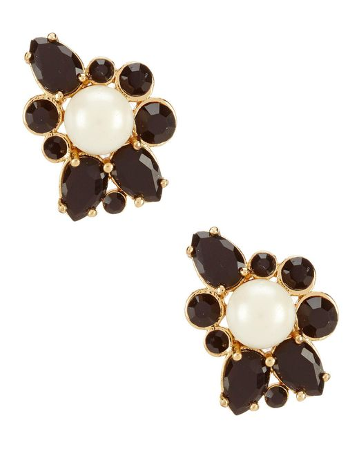 Kate Spade - Metallic Flying Colors Pearl Cluster Stud Earrings - Lyst