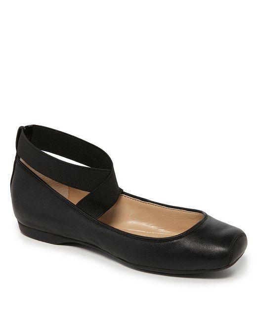 Jessica Simpson | Black Mandalaye Strappy Square-toe Ballet Flats | Lyst