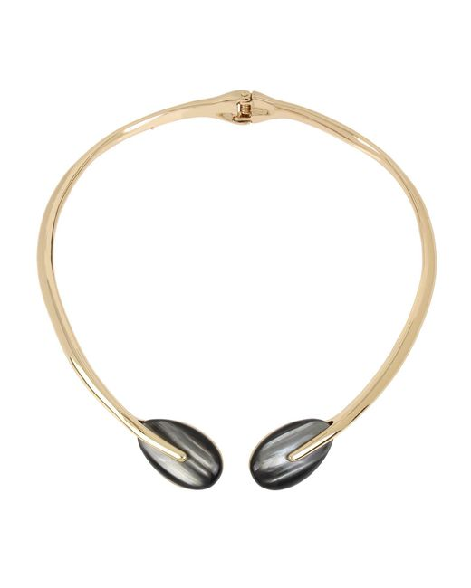 Robert Lee Morris - Metallic Teardrop Stone Collar Necklace - Lyst