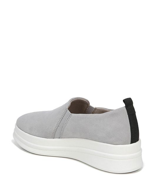 799d492f220 ... Naturalizer - Gray Yola Suede Slip On Sneakers - Lyst ...