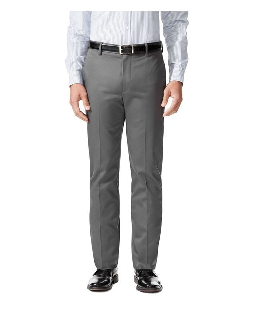 Dockers - Gray Insignia Flat-front Never Iron Slim-fit Stretch Pants for Men - Lyst