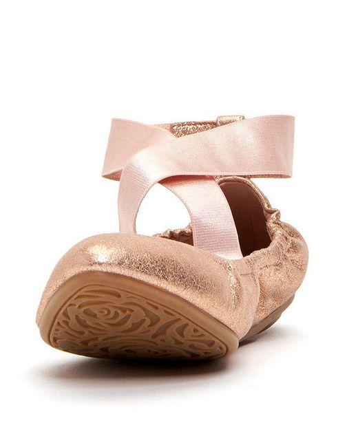 Edina Ribbon Cross Over Strap Ballerina Slip-Ons 3zPDVR6l
