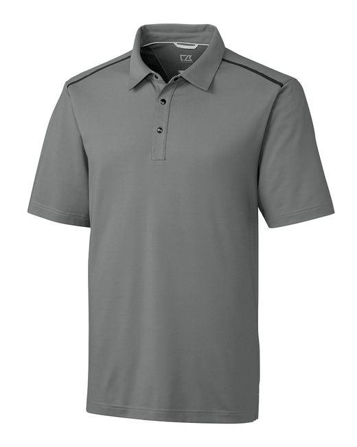 Cutter & Buck - Gray Short-sleeve Fusion Drytec Polo for Men - Lyst