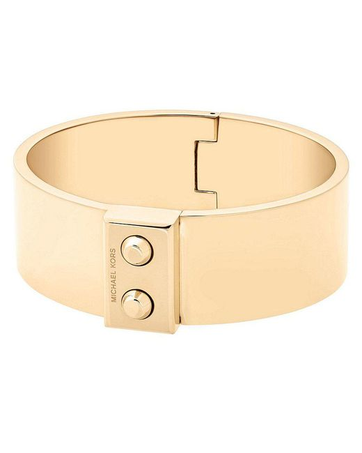 Michael Kors | Metallic Hamilton Hinge Cuff Bracelet | Lyst