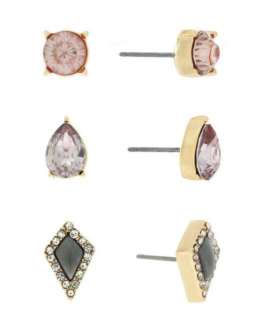 Jessica Simpson - Metallic Stud Earring Set - Lyst