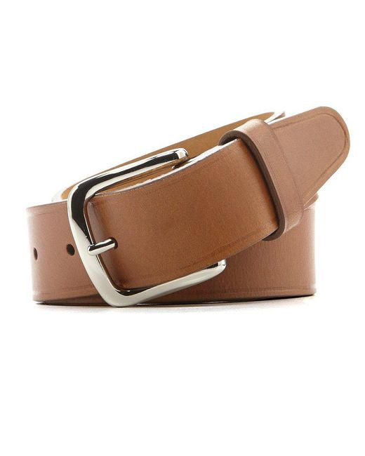 Cole Haan - Brown Buff Harness Leather Belt for Men - Lyst