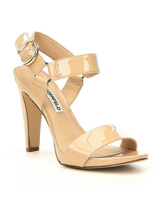 Karl Lagerfeld - Black Cieone Ankle Strap Dress Sandals - Lyst