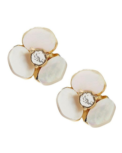 Kate Spade | Metallic Pansy Stud Earrings | Lyst