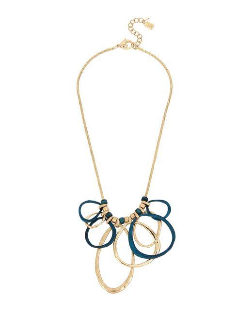 Robert Lee Morris - Metallic Sculptural Patina & Gold Link Frontal Statement Necklace - Lyst