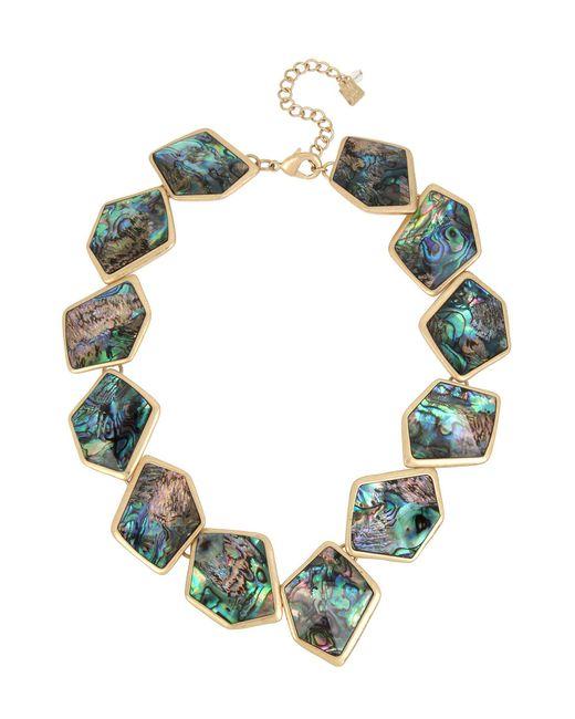 Robert Lee Morris - Multicolor Geometric Abalone Stone Collar Statement Necklace - Lyst