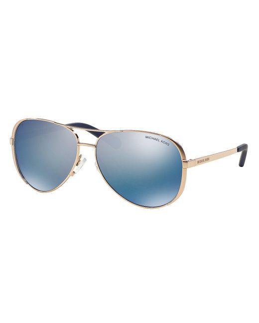 Michael Kors - Blue Chelsea Polarized Aviator Sunglasses for Men - Lyst