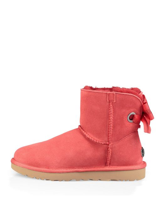 5d0d9a149c2 spain ugg mini bailey bow red 92383 202fc
