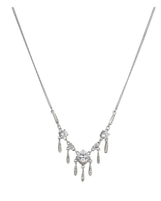 Carolee | Metallic Social Soiree Cz Small Frontal Necklace | Lyst