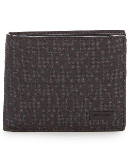 Michael Kors - Black Jet Set Logo Slim Billfold Wallet for Men - Lyst