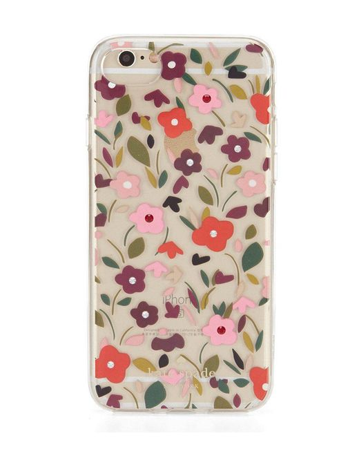 Kate Spade | Pink Jeweled Boho Floral Iphone 7 Case | Lyst