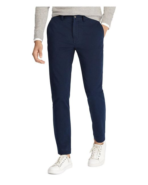 Polo Ralph Lauren - Blue Classic-fit Flat-front Bedford Chino Pants for Men - Lyst