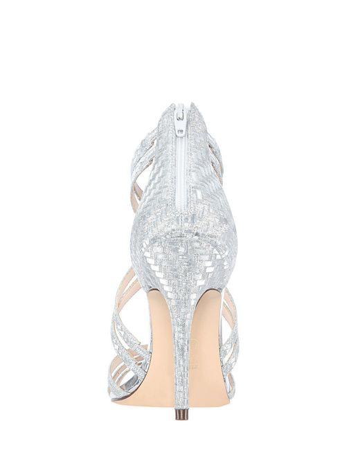 33abe1de352 ... Nina - Metallic Carlie Glitter Weave Dress Sandals - Lyst ...