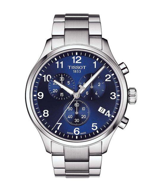 Tissot - Blue Chrono Xl Classic Stainless Steel Bracelet Watch for Men - Lyst