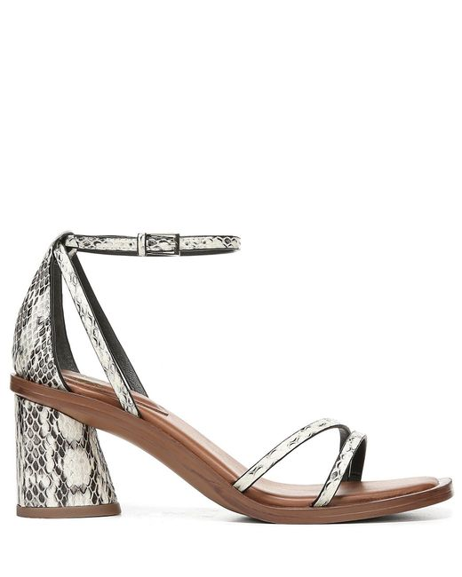 0be74d571e0 ... Franco Sarto - Black Sarto By Ronelle 2 Snake Print Leather Block Heel  Sandals - Lyst ...
