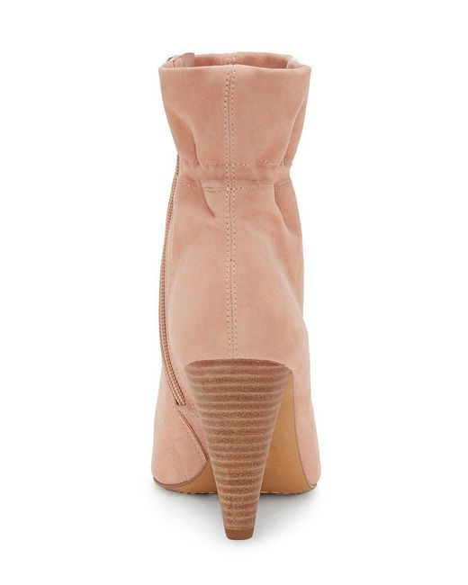 Vince Camuto Addiena Paperbag Top Suede Booties
