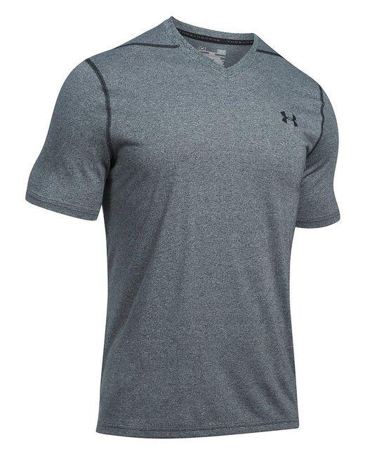 Under Armour | Gray Threadborne V-neck Short-sleeve Tee for Men | Lyst